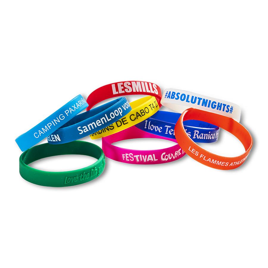 divers styles couleurs harmonieuses prix plancher Bracelet Silicone Personnalisé