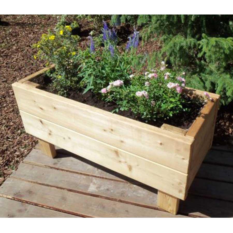 Jardinière En Bois En Hauteur jardinière sur pied en bois