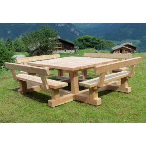 Table Banc Carré En Bois Conviviale Et Robuste Mobilier Bois